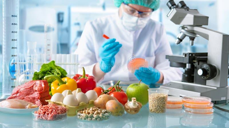 Έννοια ποιοτικού ελέγχου τροφίμων στοκ εικόνες