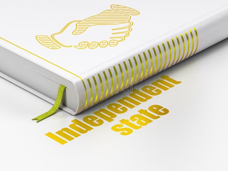 Έννοια πολιτικής: χειραψία βιβλίων, ανεξάρτητη πολιτεία στο άσπρο υπόβαθρο διανυσματική απεικόνιση