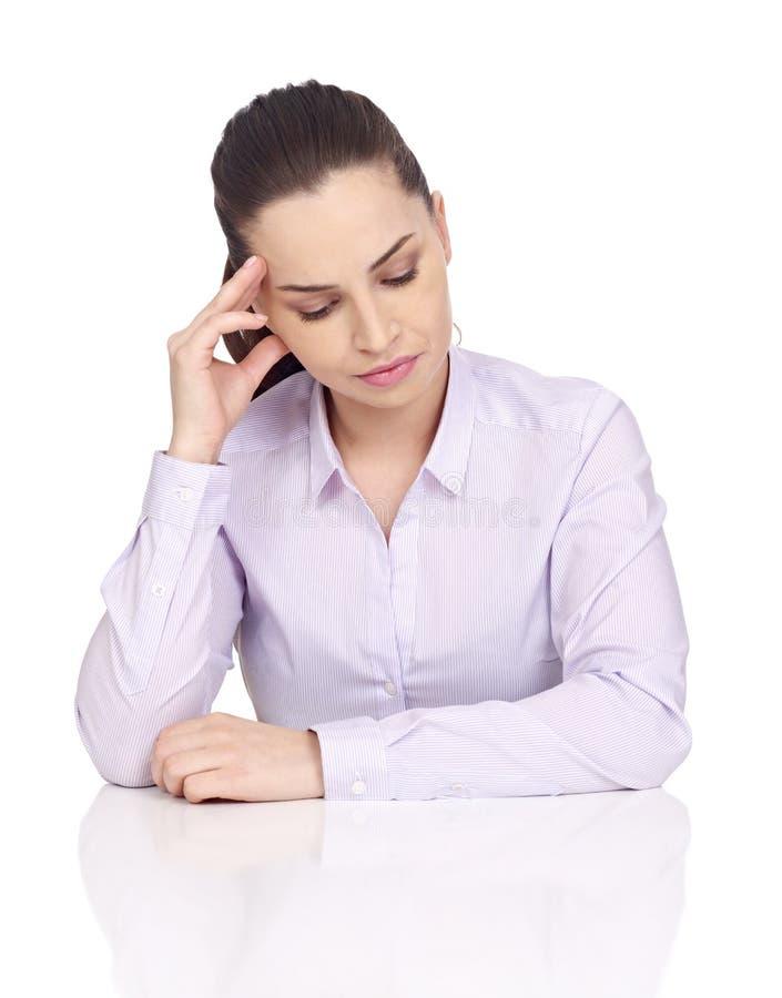 Έννοια πονοκέφαλου στο λευκό στοκ εικόνα