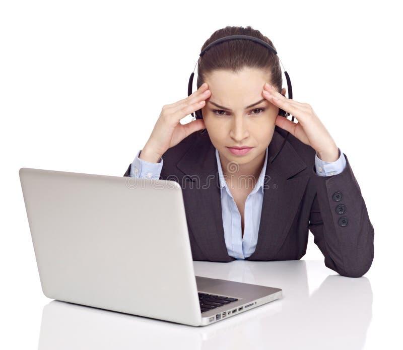 Έννοια πονοκέφαλου στο λευκό στοκ εικόνες με δικαίωμα ελεύθερης χρήσης