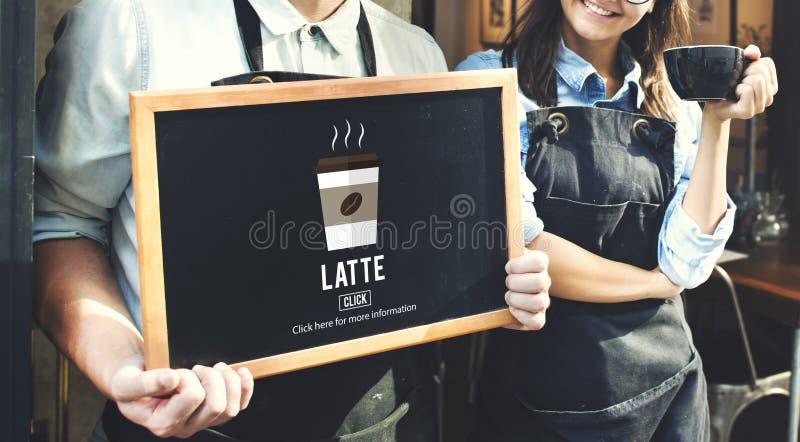 Έννοια ποτών καφεΐνης αφρού αφρού γάλακτος καφέ Latte στοκ εικόνες