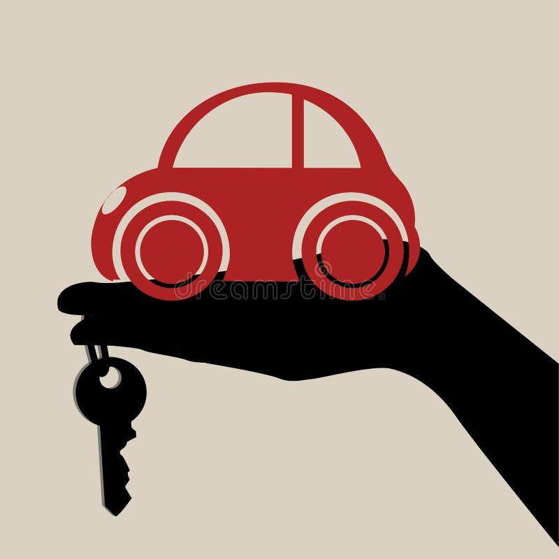 Έννοια που αγοράζει ένα αυτοκίνητο ελεύθερη απεικόνιση δικαιώματος