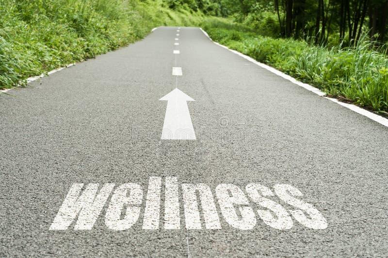 Έννοια που επεξηγεί στο δρόμο το wellness στοκ εικόνες