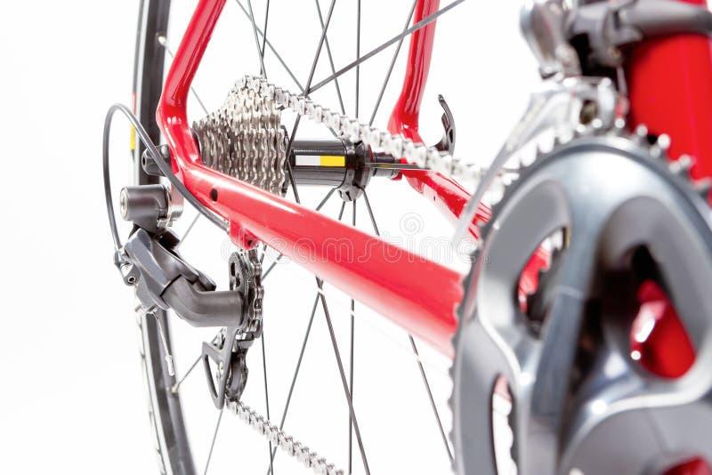 Έννοια ποδηλάτων Crankset και οπίσθια κασέτα με νέο Cahin Agai στοκ εικόνα με δικαίωμα ελεύθερης χρήσης