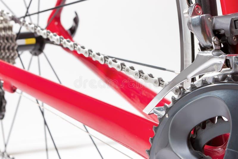 Έννοια ποδηλάτων Crankset και οπίσθια κασέτα με νέο Cahin Agai στοκ φωτογραφία με δικαίωμα ελεύθερης χρήσης