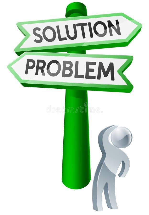 Έννοια προβλήματος ή λύσης ελεύθερη απεικόνιση δικαιώματος