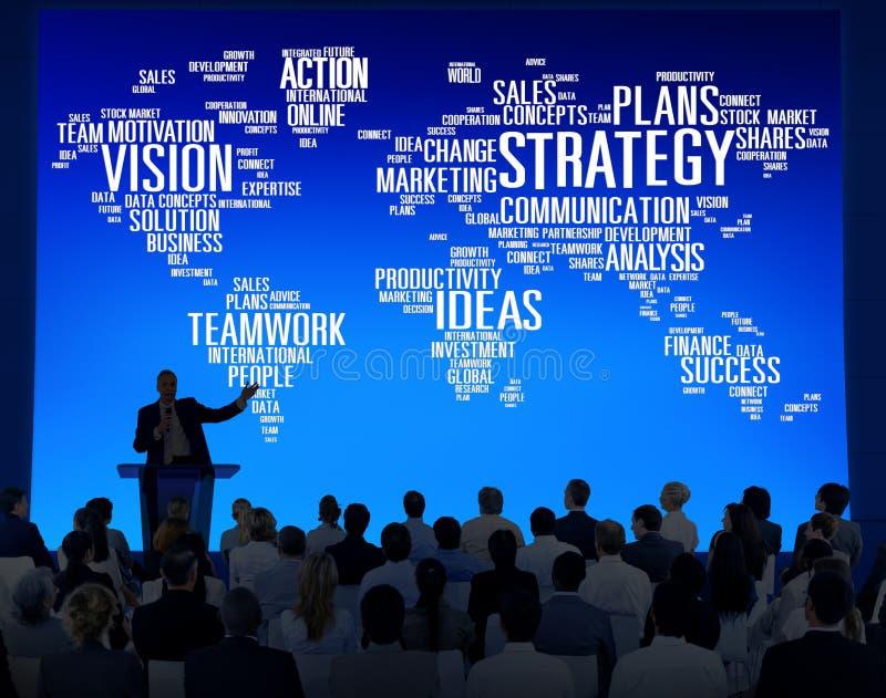 Έννοια προγραμματισμού αποστολής παγκόσμιου οράματος ανάλυσης στρατηγικής στοκ εικόνες