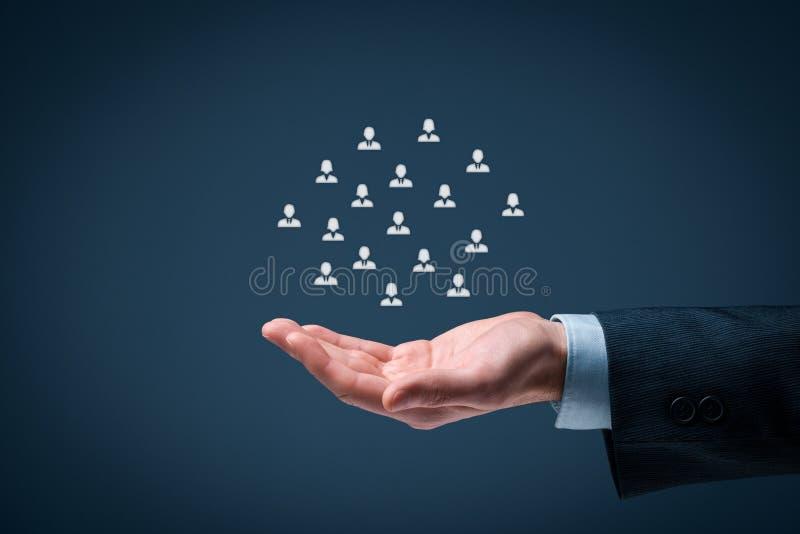 Έννοια προσοχής πελατών ή υπαλλήλων στοκ φωτογραφία