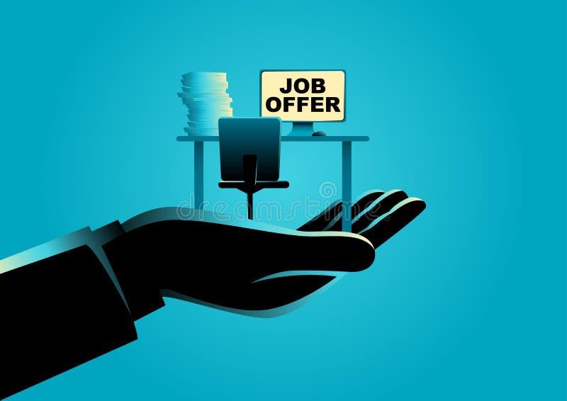 Έννοια προσφοράς εργασίας απεικόνιση αποθεμάτων