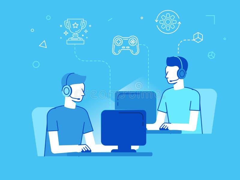 Έννοια πρωταθλημάτων Cybersport απεικόνιση αποθεμάτων