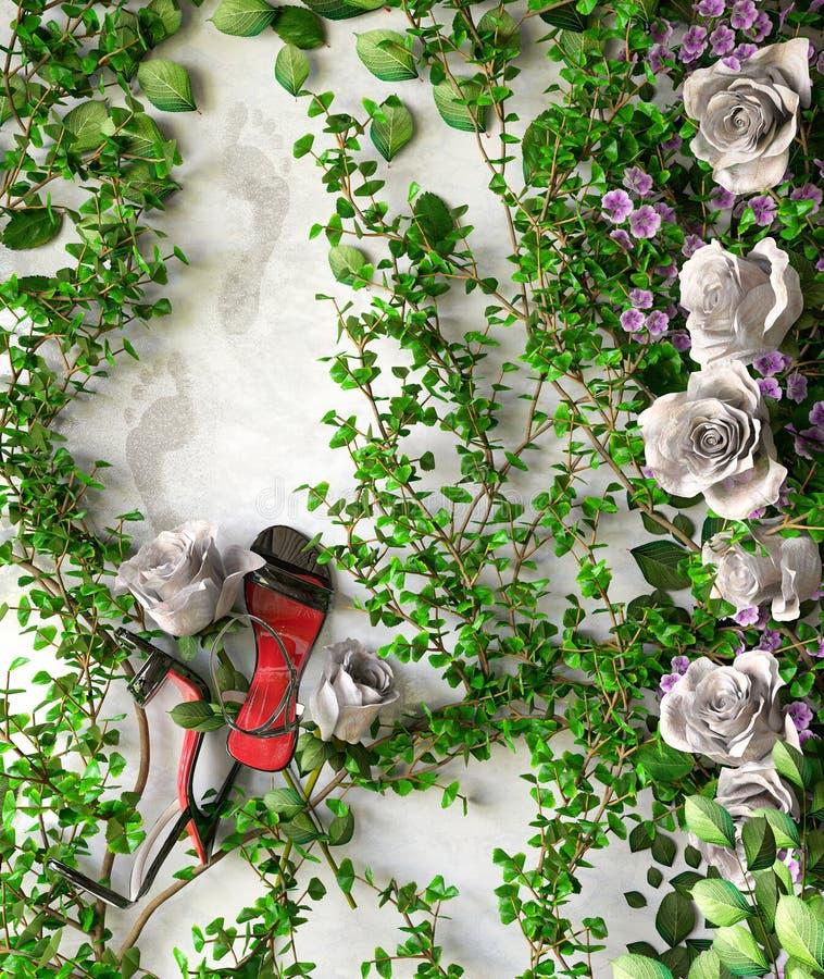 Έννοια πώλησης διακοπών λουλουδιών και εγκαταστάσεων στοκ εικόνες με δικαίωμα ελεύθερης χρήσης