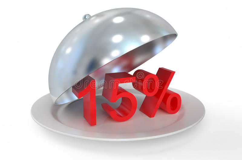 έννοια 15%, πώλησης και έκπτωσης διανυσματική απεικόνιση