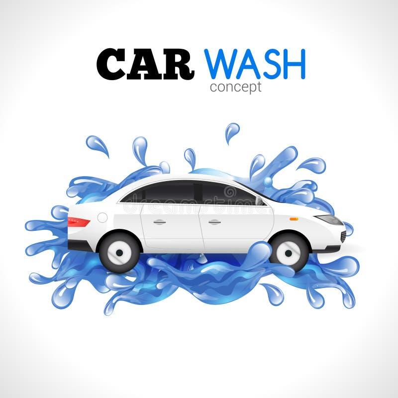 Έννοια πλυσίματος αυτοκινήτων απεικόνιση αποθεμάτων