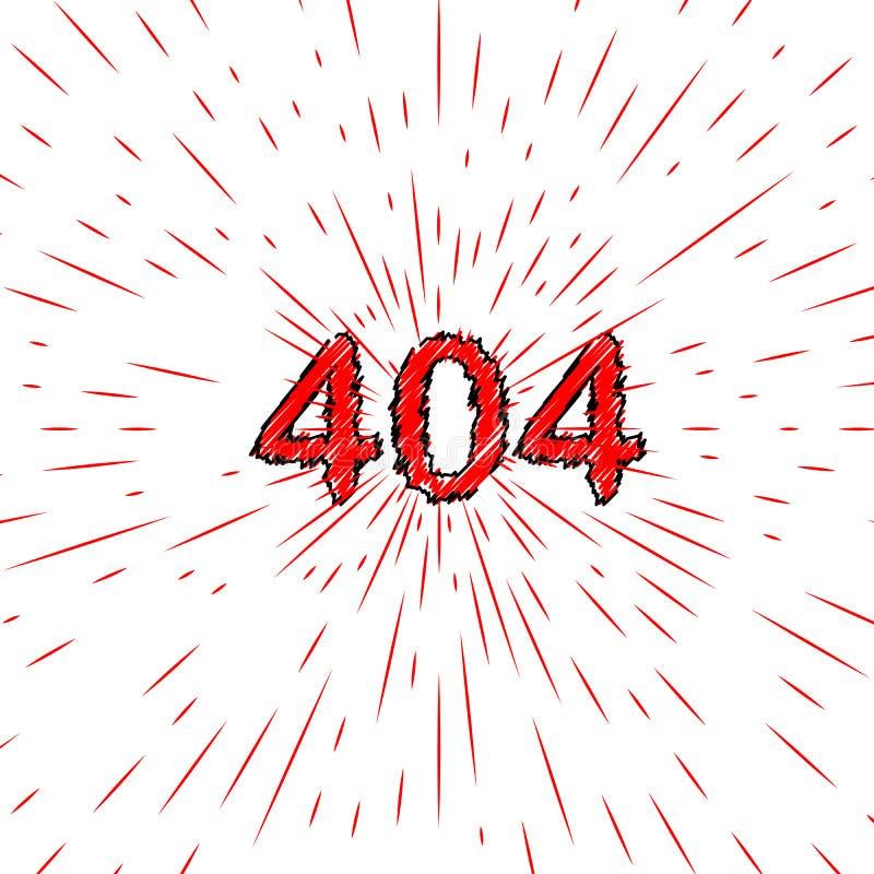 Έννοια 404 σελίδα ή αρχείο λάθους που δεν βρίσκεται για ιστοσελίδας, έμβλημα ελεύθερη απεικόνιση δικαιώματος