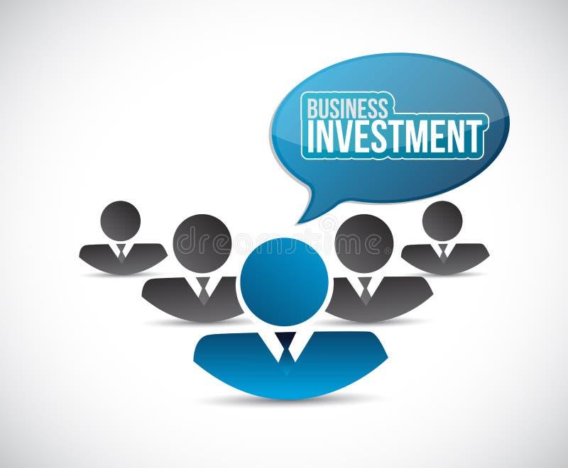 Έννοια σημαδιών ομαδικής εργασίας εμπορικής επένδυσης ελεύθερη απεικόνιση δικαιώματος