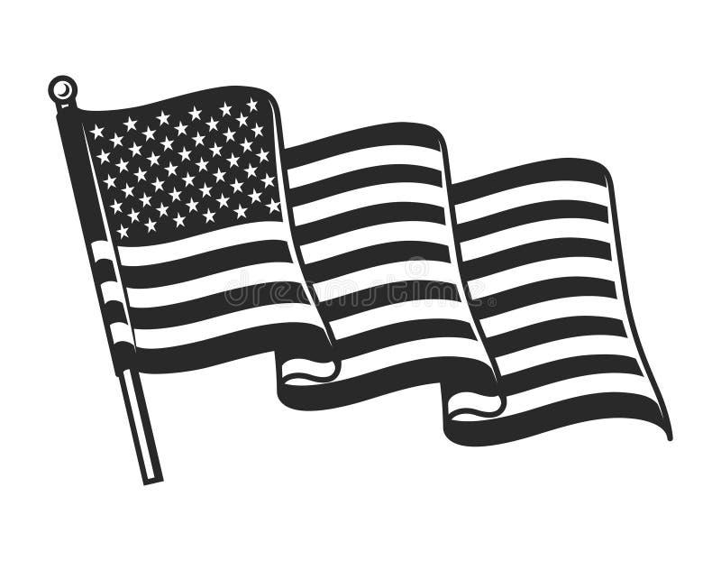 Έννοια σημαιών Ηνωμένου κυματισμού διανυσματική απεικόνιση