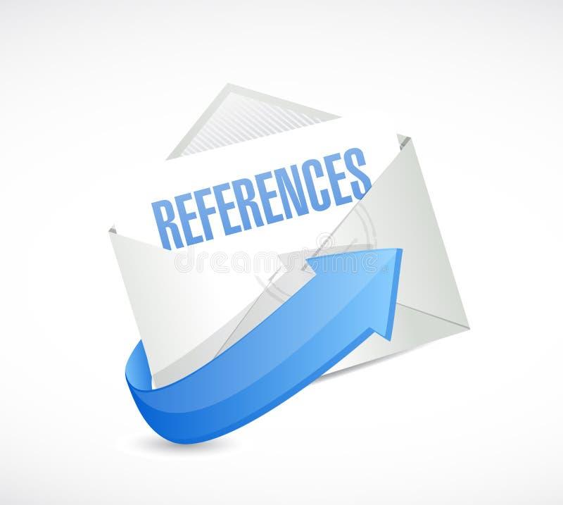έννοια σημαδιών ταχυδρομείου αναφορών διανυσματική απεικόνιση