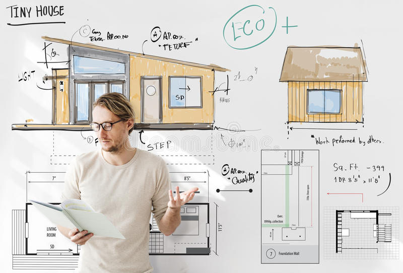 Έννοια σκίτσων σχεδιαγραμμάτων Floorplan σχεδιαγράμματος σπιτιών στοκ εικόνα με δικαίωμα ελεύθερης χρήσης