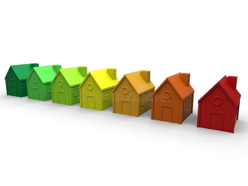 Έννοια σπιτιών ενεργειακής αποδοτικότητας απεικόνιση αποθεμάτων