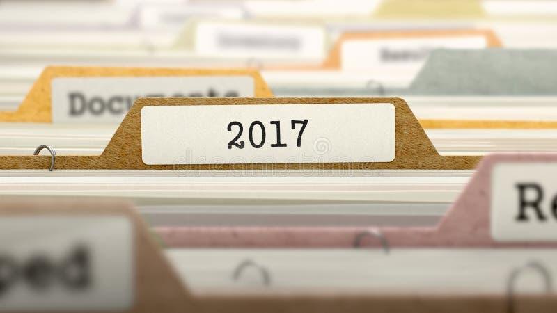2017 έννοια στην ετικέτα αρχείων τρισδιάστατος στοκ εικόνα με δικαίωμα ελεύθερης χρήσης