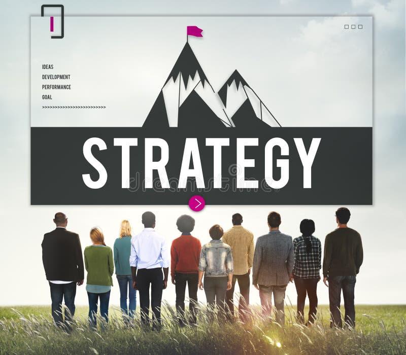 Έννοια στρατηγικής βελτίωσης στόχων πρόκλησης στοκ φωτογραφία