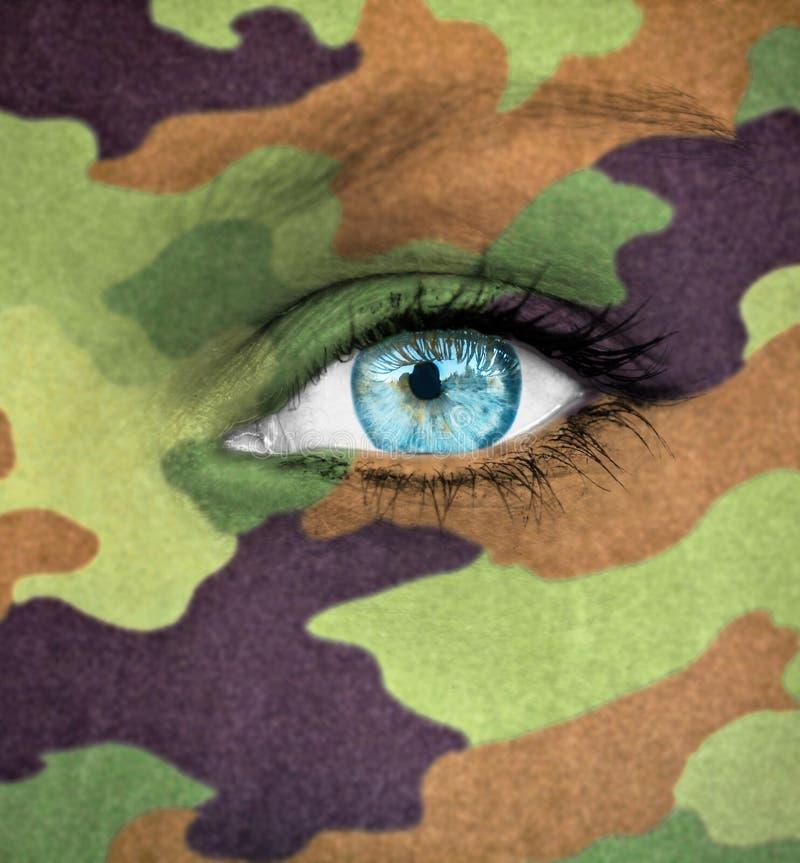 Έννοια στρατιωτών γυναικών στοκ φωτογραφία