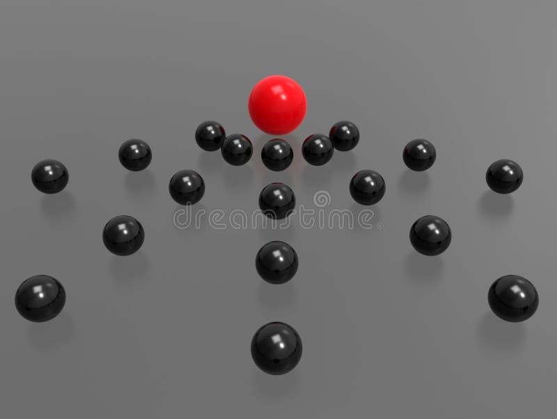 Έννοια συμβούλων σφαιρών διανυσματική απεικόνιση