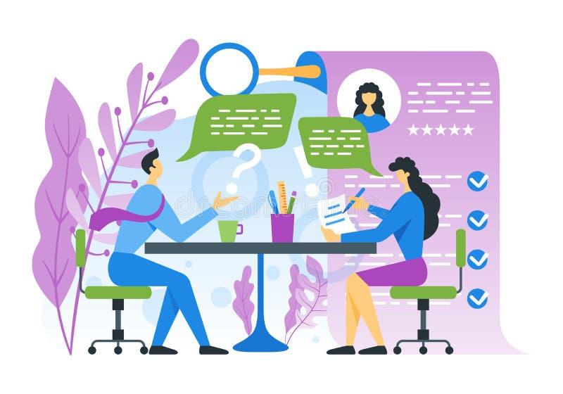 Έννοια συνέντευξης εργασίας διανυσματική απεικόνιση
