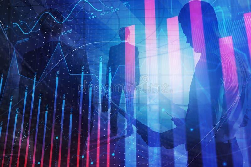 Έννοια συνεδρίασης, χρηματοδότησης και κέρδους διανυσματική απεικόνιση