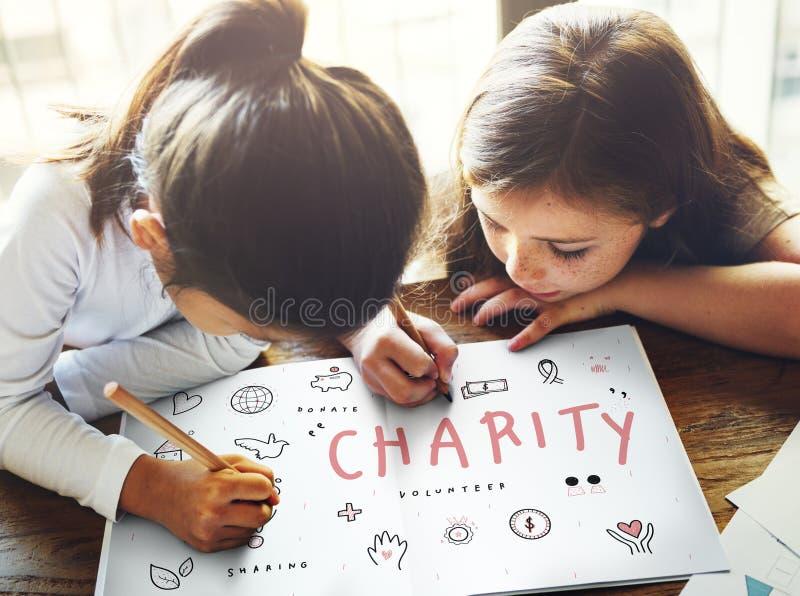 Έννοια συνειδητοποίησης δωρεάς ενίσχυσης φιλανθρωπίας στοκ εικόνα