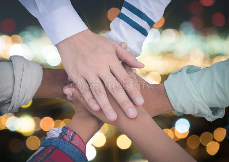 Έννοια συνεργασίας ενότητας ομαδικής εργασίας ομάδας στοκ φωτογραφίες