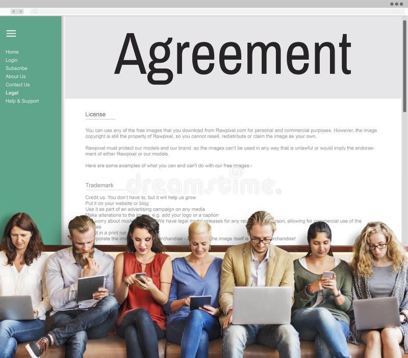 Έννοια συνεργασίας διαπραγμάτευσης συνεργασίας συμμαχίας συμφωνίας στοκ εικόνες