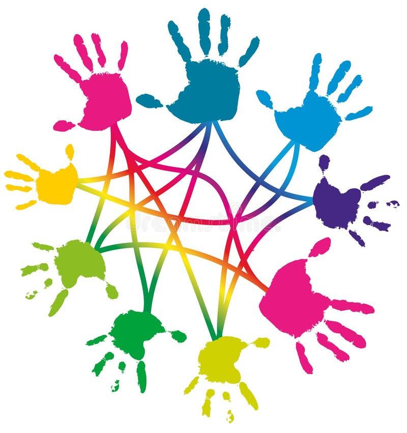 Έννοια συνεργασίας ελεύθερη απεικόνιση δικαιώματος
