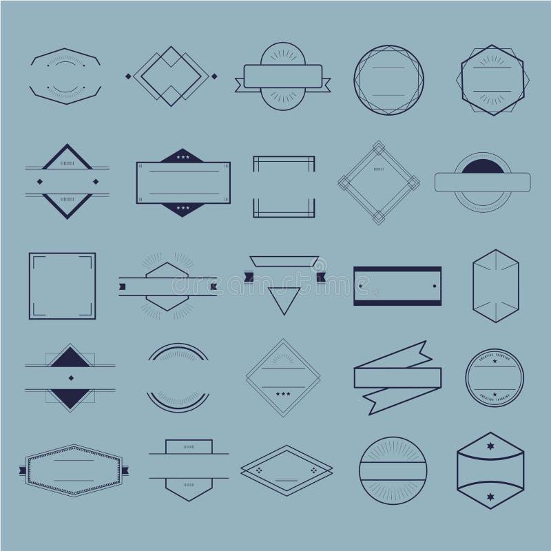 Έννοια συλλογής λογότυπων διακριτικών συμβόλων εικονιδίων διανυσματική απεικόνιση