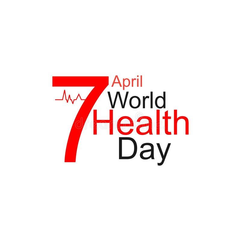 Έννοια σχεδίασης παγκόσμιας ημέρας υγείας φορέα 7 Απριλίου Καρδιά και καρδιογράφημα Πρότυπο για αφίσα, πανό, διαφήμιση, απαλοιφή  στοκ φωτογραφίες με δικαίωμα ελεύθερης χρήσης