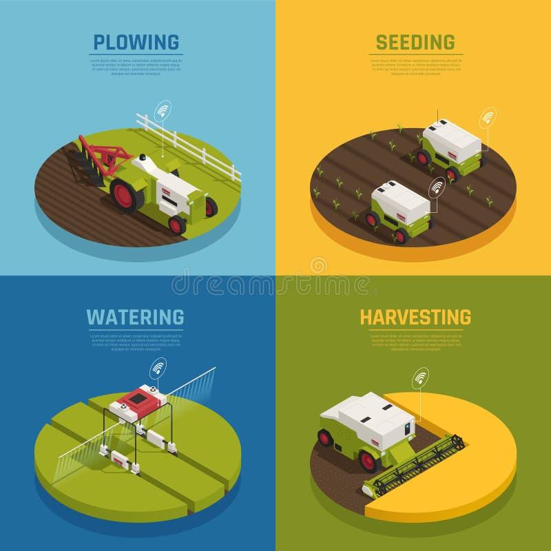 Έννοια σχεδίου αυτοματοποίησης γεωργίας απεικόνιση αποθεμάτων