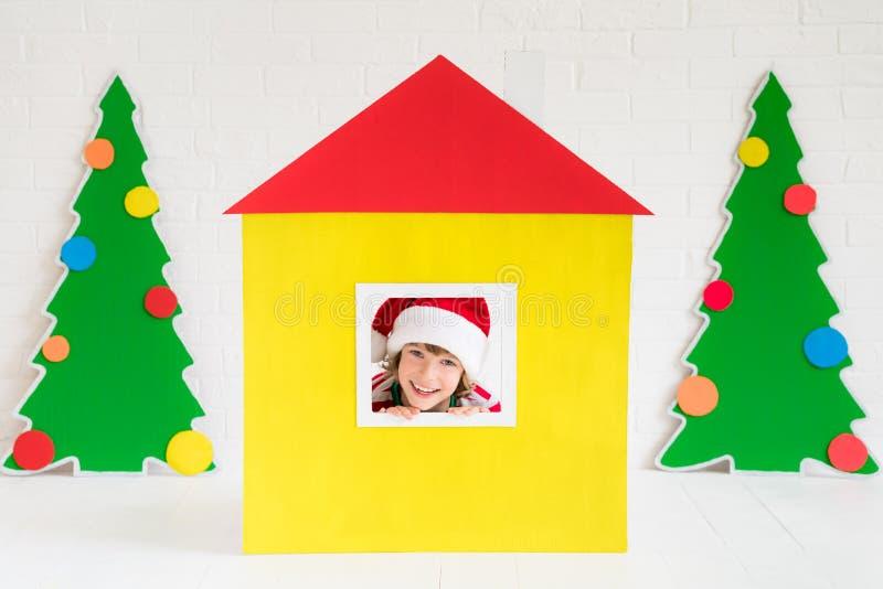 Έννοια σχεδίου εγχώριων διακοπών Χριστουγέννων στοκ φωτογραφία