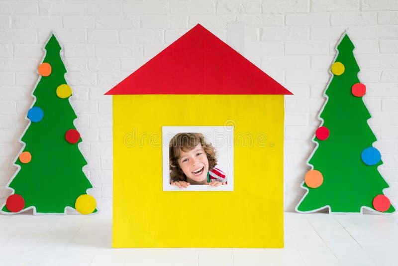 Έννοια σχεδίου εγχώριων διακοπών Χριστουγέννων στοκ εικόνα