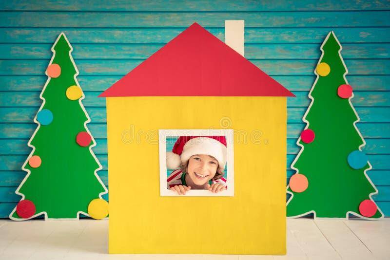 Έννοια σχεδίου εγχώριων διακοπών Χριστουγέννων στοκ εικόνες με δικαίωμα ελεύθερης χρήσης