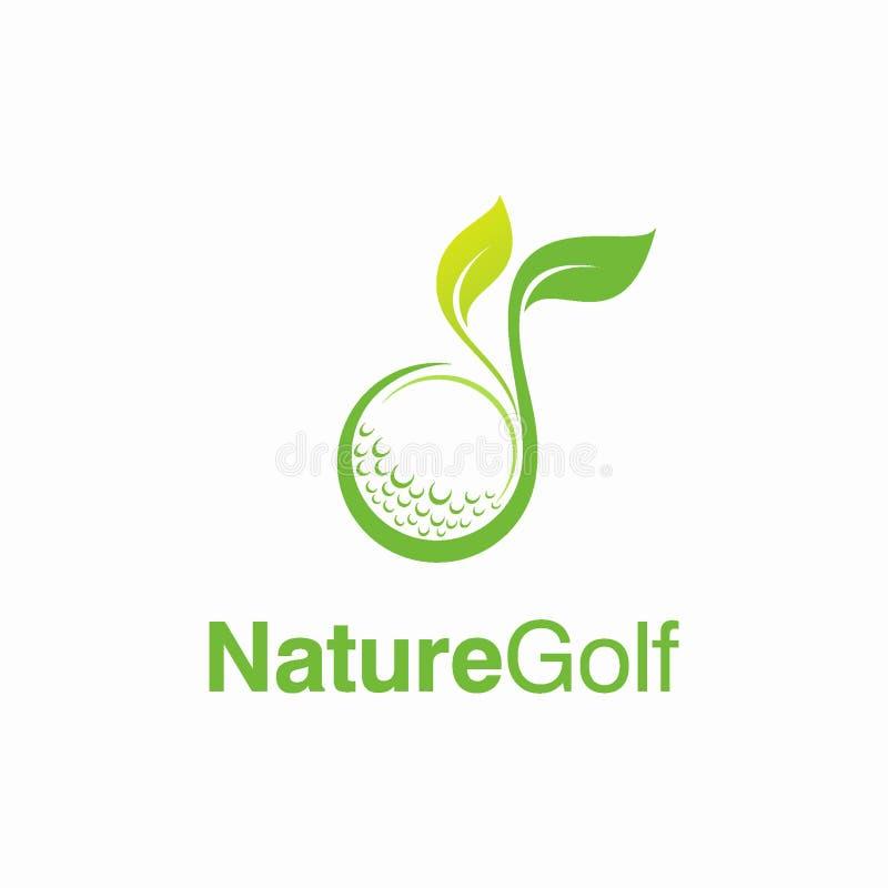 Έννοια σχεδίου λογότυπων γκολφ φύσης ελεύθερη απεικόνιση δικαιώματος