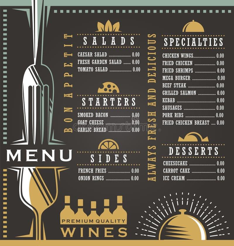Έννοια σχεδίου επιλογών κρασιού και τροφίμων απεικόνιση αποθεμάτων