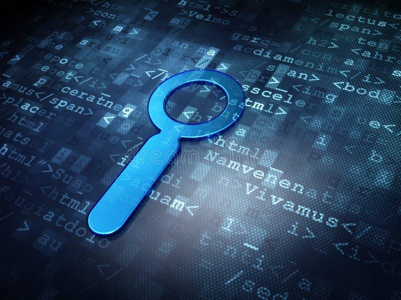 Έννοια σχεδίου Ιστού: Μπλε αναζήτηση σε ψηφιακό ελεύθερη απεικόνιση δικαιώματος