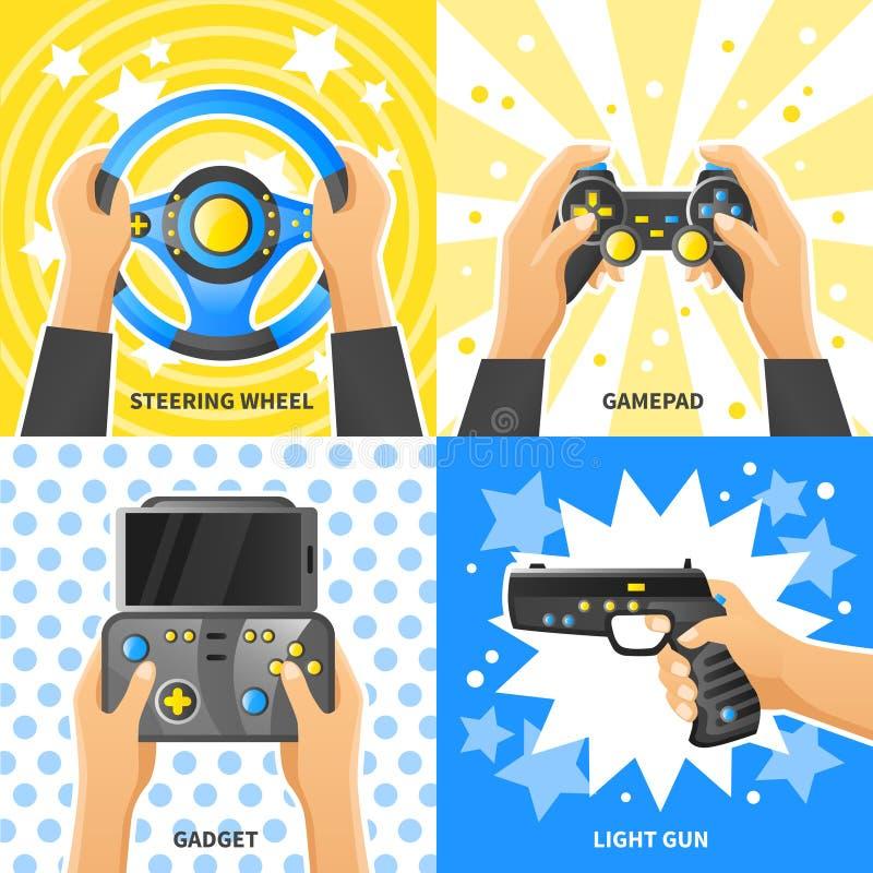 Έννοια σχεδίου συσκευών παιχνιδιών 2x2 απεικόνιση αποθεμάτων