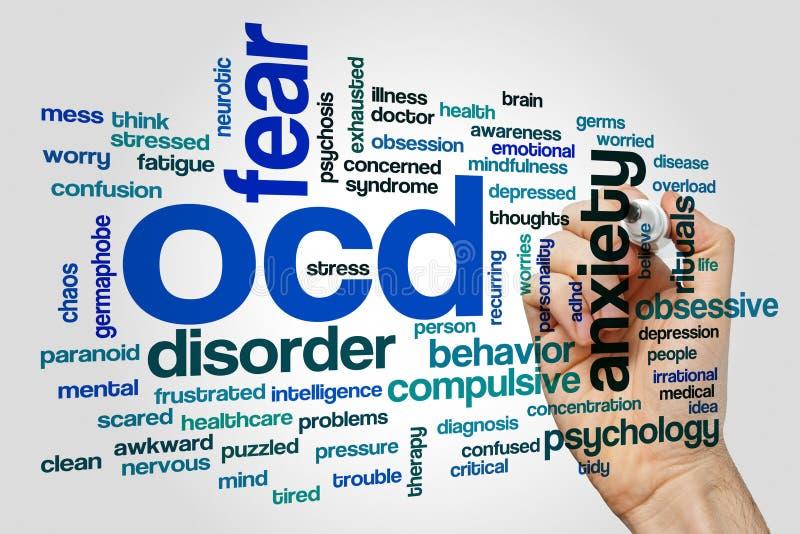 Έννοια σύννεφων λέξης OCD στοκ εικόνες