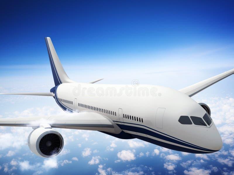 Έννοια σύννεφων πτήσης οριζόντων οριζόντων αεροπλάνων στοκ εικόνα με δικαίωμα ελεύθερης χρήσης
