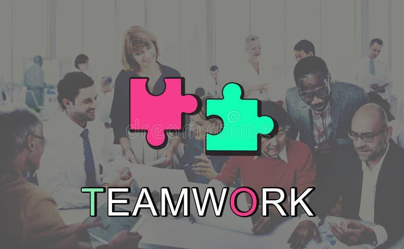 Έννοια σύνδεσης συνεργασίας συμμαχίας ομαδικής εργασίας στοκ εικόνα