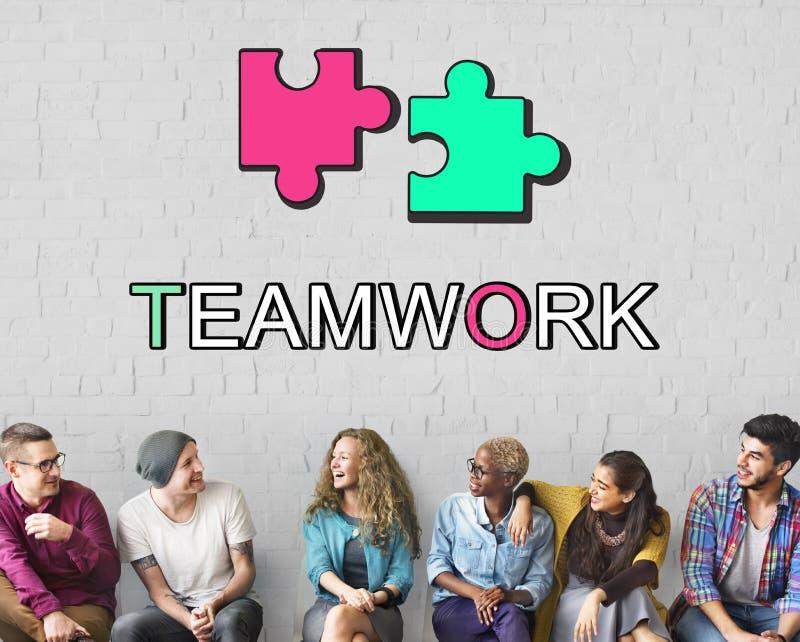Έννοια σύνδεσης συνεργασίας συμμαχίας ομαδικής εργασίας στοκ εικόνες