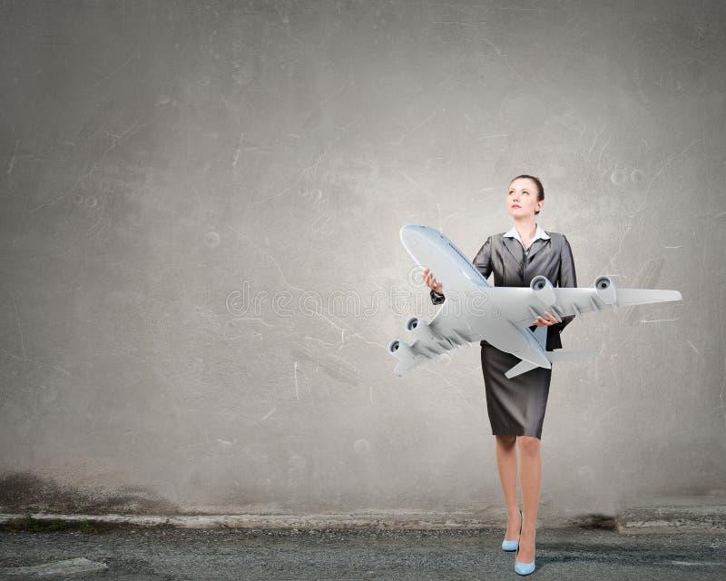Έννοια ταξιδιού αεροσκαφών ή επιχειρήσεων στοκ εικόνες