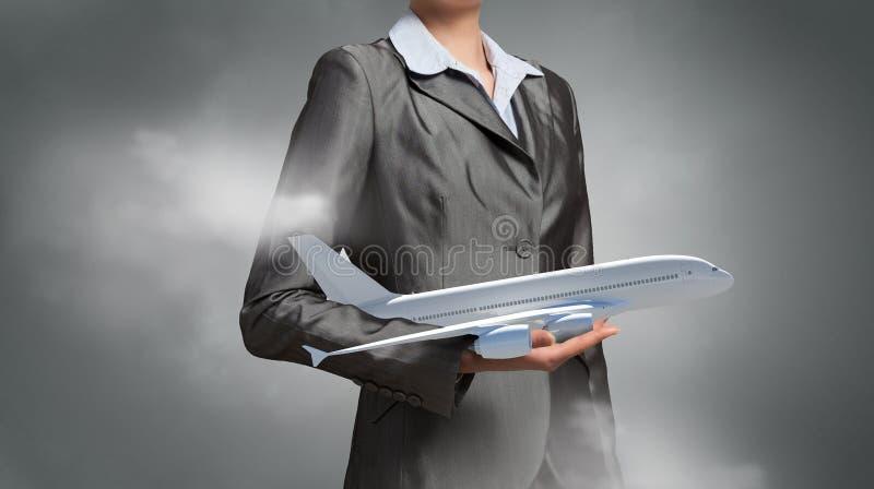 Έννοια ταξιδιού αεροσκαφών ή επιχειρήσεων στοκ εικόνα