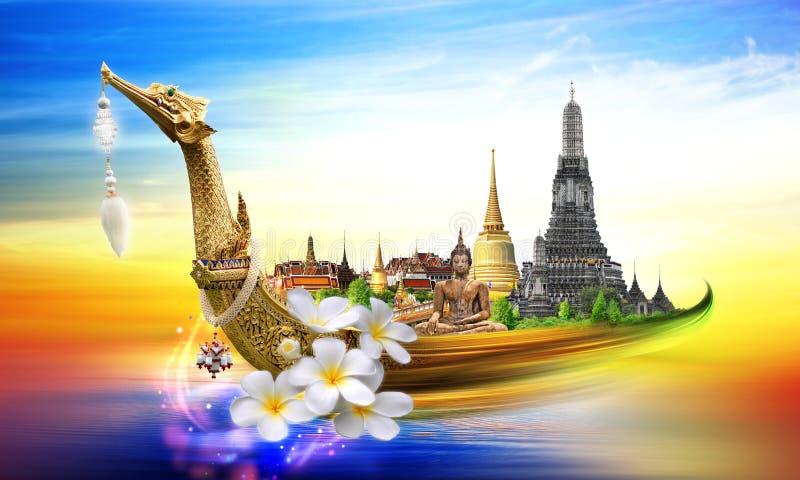 Έννοια ταξιδιού της Ταϊλάνδης στοκ εικόνα